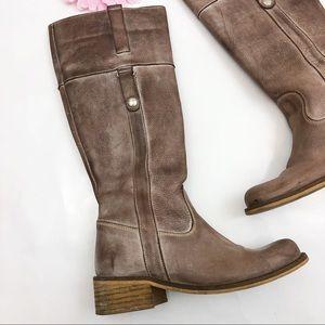 Anthro Felmini Leather Riding Boots: Mocha